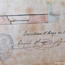 Libros antiguos: ARQUITECTURA,PLANOS,1877,ANTONI ROVIRA TRIAS Y CAMILO OLIVERAS,COLABORADOR ANTONI GAUDI,MODERNISTA. Lote 226977470
