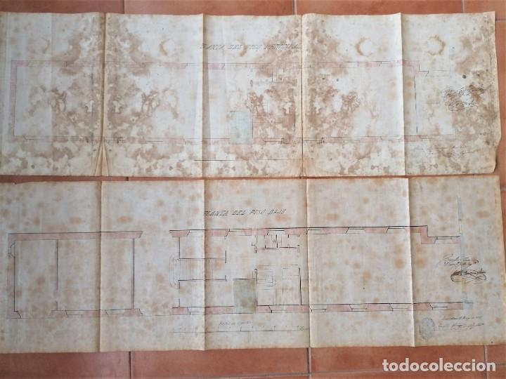 Libros antiguos: ARQUITECTURA,PLANOS,1877,ANTONI ROVIRA TRIAS Y CAMILO OLIVERAS,COLABORADOR ANTONI GAUDI,MODERNISTA - Foto 2 - 226977470