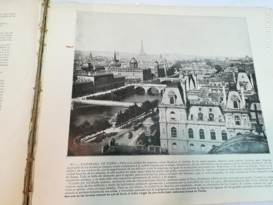 Libros antiguos: Portfolio de fotografias de las ciudades, paisajes y cuadros célebre... S1822T - Foto 3 - 227607215