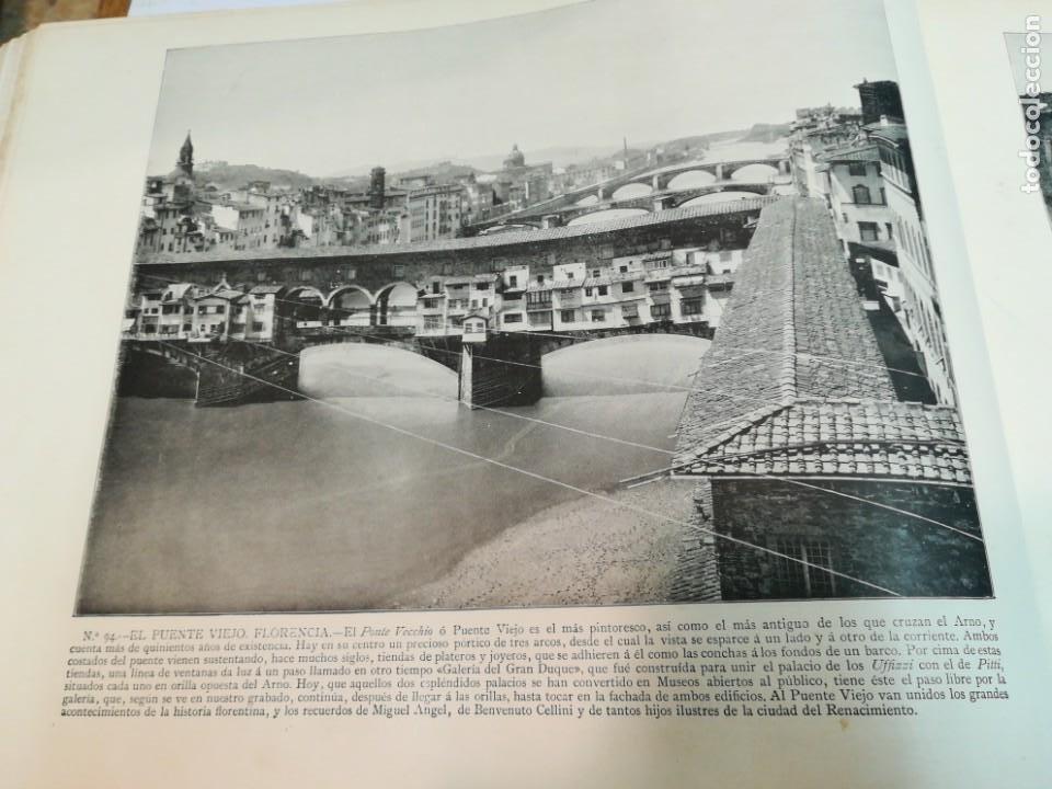 Libros antiguos: Portfolio de fotografias de las ciudades, paisajes y cuadros célebre... S1822T - Foto 5 - 227607215