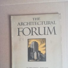 Libros antiguos: THE ARCHITECTURAL FORUM IN TWO PARTS PART ONE ARCHITECTURAL DESIGN MAY 1931. Lote 230681890
