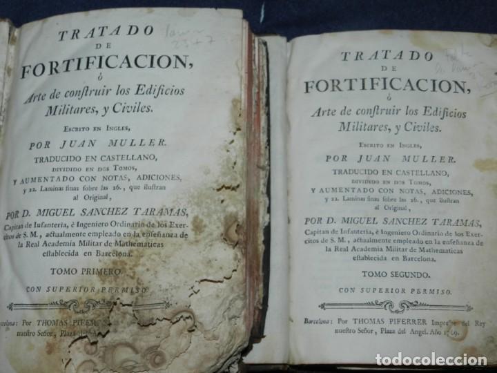 (M3.6) JUAN MULLER - TRATADO DE FORTIFICACION O ARTE DE CONSTRUIR LOS EDIFICIOS MILITARES Y CIVILES (Libros Antiguos, Raros y Curiosos - Bellas artes, ocio y coleccion - Arquitectura)
