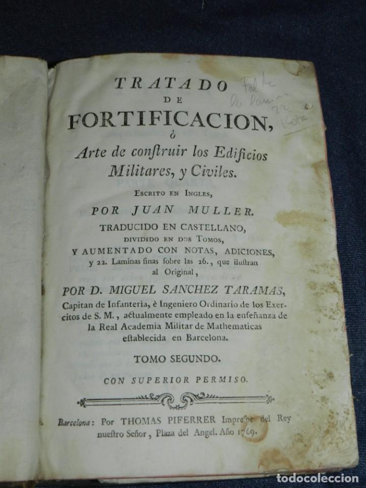 Libros antiguos: (M3.6) JUAN MULLER - TRATADO DE FORTIFICACION O ARTE DE CONSTRUIR LOS EDIFICIOS MILITARES Y CIVILES - Foto 8 - 233112685