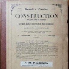 Libros antiguos: NOUVELLES ANNALES DE LA CONSTRUCCION -3º SERIE TOMO I- 1876 C.A OPPERMANN. Lote 234319515