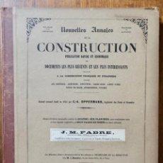 Libros antiguos: NOUVELLES ANNALES DE LA CONSTRUCCION -3º SERIE TOMO 2- 1877 C.A OPPERMANN. Lote 234322045