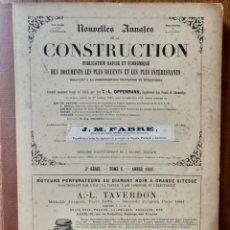 Libros antiguos: NOUVELLES ANNALES DE LA CONSTRUCCION -3º SERIE TOMO VIII- 1883 C.A OPPERMANN. Lote 234324070