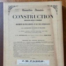 Libros antiguos: NOUVELLES ANNALES DE LA CONSTRUCCION -3º SERIE TOMO III- 1878 C.A OPPERMANN. Lote 234330090
