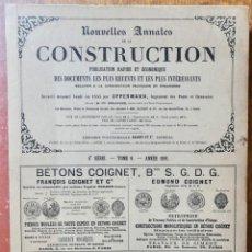 Libros antiguos: NOUVELLES ANNALES DE LA CONSTRUCCION - 4 º SERIE TOMO VII- 1891 C.A OPPERMANN. Lote 234332040