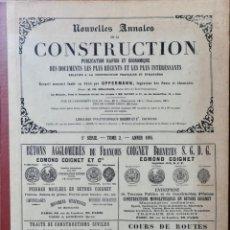 Libros antiguos: NOUVELLES ANNALES DE LA CONSTRUCCION - 5 º SERIE TOMO II- 1895 C.A OPPERMANN. Lote 234333715
