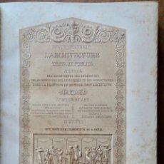 Libros antiguos: REVUE GÉNÉRALE DE L'ARCHITECTURE ET DES TRAVAUX PUBLICS -JOURNAL - 1869-XXVII VOL. Lote 234879085