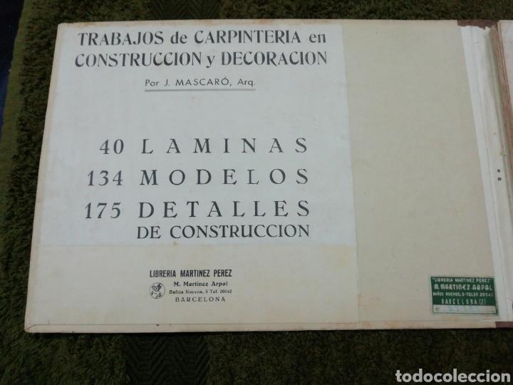 Libros antiguos: Libro trabajos de carpintería en construcción y decoración j Mascaró Arquitecto - Foto 2 - 235235740