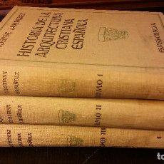 Libros antiguos: 1930 - VICENTE LAMPEREZ - HISTORIA DE LA ARQUITECTURA CRISTIANA ESPAÑOLA. 3 TOMOS (OBRA COMPLETA). Lote 235590440
