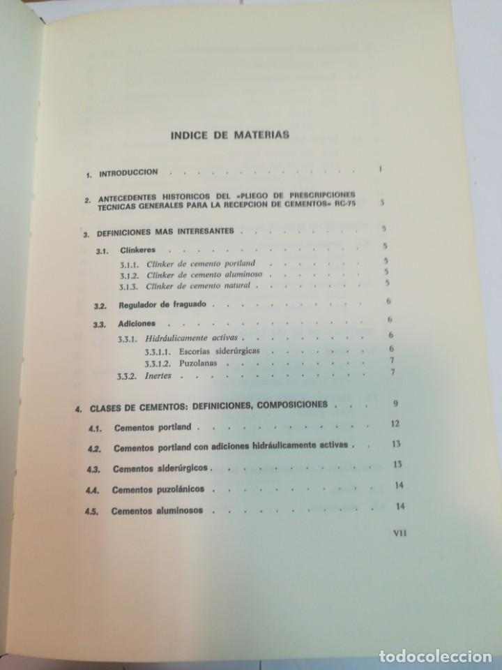 Libros antiguos: JULIÁN REZOLA Caracteristicas y correcta aplicación de los diversos tipos de cemento SA2654 - Foto 2 - 238810850
