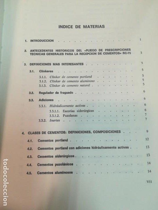 Libros antiguos: JULIÁN REZOLA Caracteristicas y correcta aplicación de los diversos tipos de cemento SA2654 - Foto 3 - 238810850