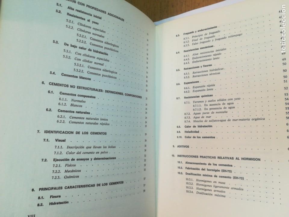 Libros antiguos: JULIÁN REZOLA Caracteristicas y correcta aplicación de los diversos tipos de cemento SA2654 - Foto 4 - 238810850