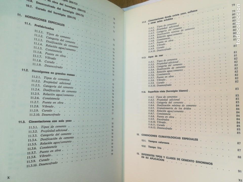 Libros antiguos: JULIÁN REZOLA Caracteristicas y correcta aplicación de los diversos tipos de cemento SA2654 - Foto 5 - 238810850