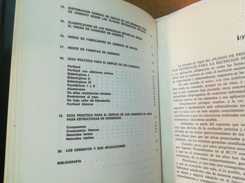 Libros antiguos: JULIÁN REZOLA Caracteristicas y correcta aplicación de los diversos tipos de cemento SA2654 - Foto 6 - 238810850