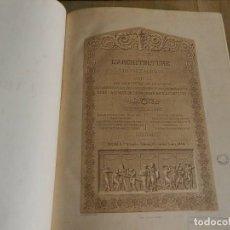 Libros antiguos: REVUE GÉNÉRALE DE L'ARCHITECTURE ET DES TRAVAUX PUBLICS 30 1873 REVISTA ARQUITECTURA FRANCÉS LÁMINAS. Lote 238550060