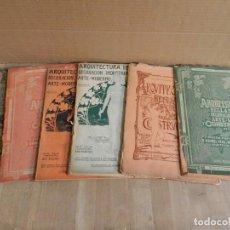 Libros antiguos: LOTE 6 REVISTAS ARQUITECTURA PRINCIPIO S XX - MUCHA PUBLICIDAD - MODERNISMO MOSAICO HIDRAULICO. Lote 241205095