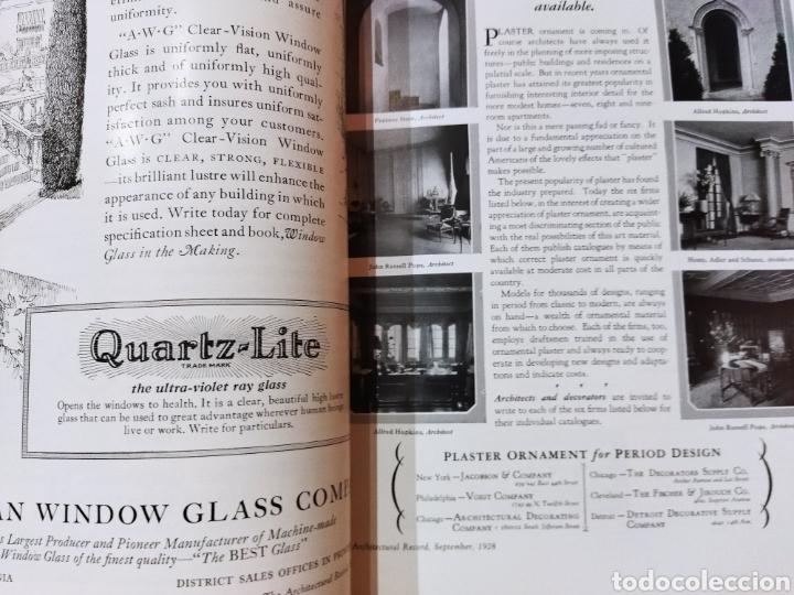 Libros antiguos: The Architectural Record .Septiembre 1928 - Foto 2 - 242423165