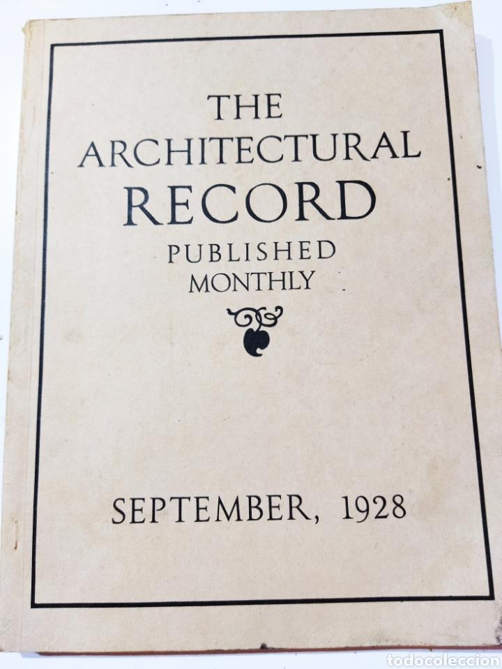 THE ARCHITECTURAL RECORD .SEPTIEMBRE 1928 (Libros Antiguos, Raros y Curiosos - Bellas artes, ocio y coleccion - Arquitectura)