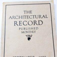 Libros antiguos: THE ARCHITECTURAL RECORD .SEPTIEMBRE 1928. Lote 242423165