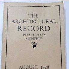 Libros antiguos: THE ARCHITECTURAL RECORD AGOSTO1928. Lote 242423755