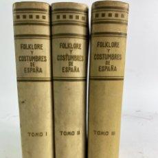 Libros antiguos: L-5894. . FOLKLORE Y COSTUMBRES DE ESPAÑA. ED. ALBERTO MARTIN, BARCELONA. 1946. 3 TOMOS.. Lote 242440180