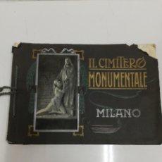 Libros antiguos: MILANO IL CIMITERO MONUMENTALE.. Lote 244499240