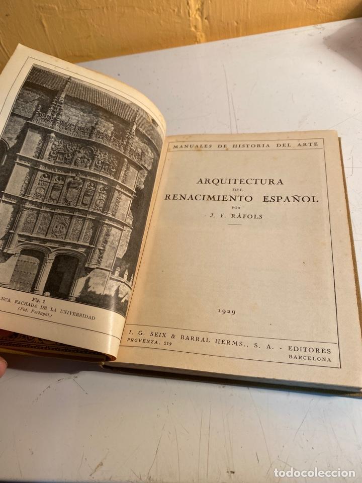 Libros antiguos: Arquitectura del renacimiento español - Foto 4 - 245108395