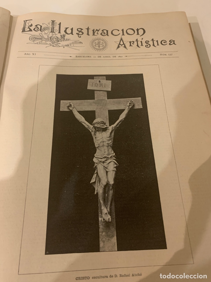LA ILUSTRACIÓN ARTÍSTICA AÑO 1892 MAGNÍFICA COLECCIÓN DE GRABADOS (Libros Antiguos, Raros y Curiosos - Bellas artes, ocio y coleccion - Arquitectura)