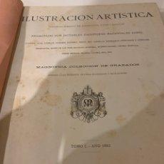 Libros antiguos: LA ILUSTRACIÓN ARTÍSTICA AÑO 1882 MAGNÍFICA COLECCIÓN DE GRABADOS. Lote 245639600