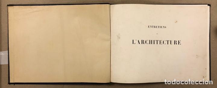 """Libros antiguos: ENTRETIENS SUR L'ARCHITECTURE """"ATLAS"""". M. VIOLLET LE DUC. A. MOREL ET CIE EDITEURS 1863. - Foto 3 - 248056065"""