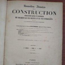 Libros antiguos: LIBRO NOUVELLES ANNALES DE LA CONSTRUCTION AÑO 1888 TOMO V. Lote 248710985