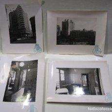 Libros antiguos: 4 FOTOGRAFIAS DEL PRIMER RASCACIELOS DE BARCELONA, EDIFICIO FÁBREGAS. URQUINAONA. CEMOSA. Lote 252753790