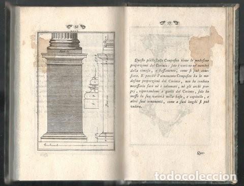 Libros antiguos: VITRUVIO (LARCHITETTURA GENERALE, 1794) Y VIGNOLA (GLI ORDINI DI ARCHITETTURA, 1823) - Foto 5 - 43216007