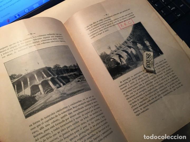Libros antiguos: D. SALVADOR SELLÉS Y BARÓ - LIBRO , EL PARQUE GUELL CON DEDICATORIA AUTOGRA A TINTA ORIGINAL DEL ARQ - Foto 4 - 254512265