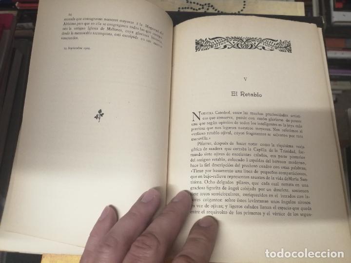 Libros antiguos: RESTAURACIÓN DE LA CATEDRAL DE MALLORCA . M. ROTGER CAPLLONCH . 1ª EDICIÓN 1907. BUSCADÍSIMO!!! - Foto 5 - 261839530