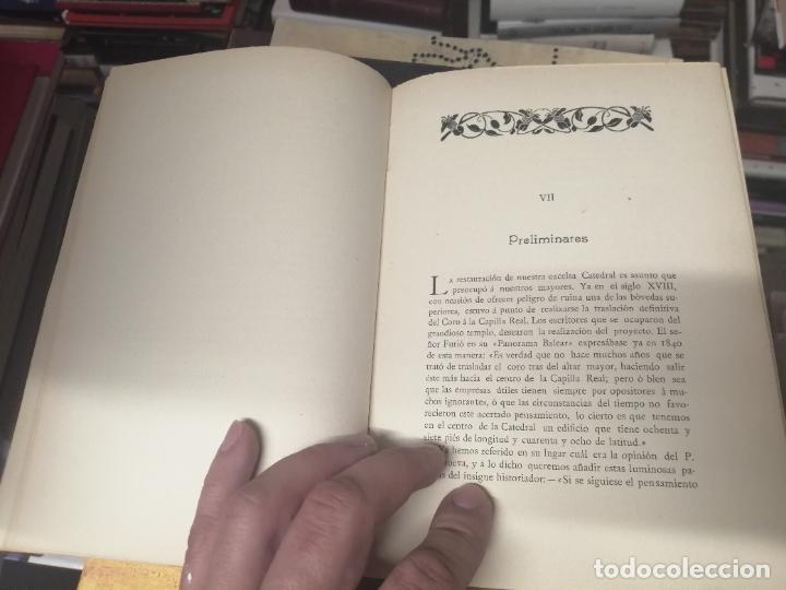 Libros antiguos: RESTAURACIÓN DE LA CATEDRAL DE MALLORCA . M. ROTGER CAPLLONCH . 1ª EDICIÓN 1907. BUSCADÍSIMO!!! - Foto 6 - 261839530