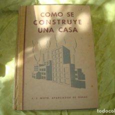 Livres anciens: COMO SE CONSTRUYE UNA CASA. J.J. NIETO. EDC. M. DE LOS CUETOS, 1936. Lote 262773815