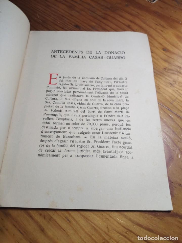 """Libros antiguos: Inauguració de les obres de les """"Escoles Casas"""". Barcelona, XII de Novembre de MCMXXX. - Foto 3 - 262825375"""