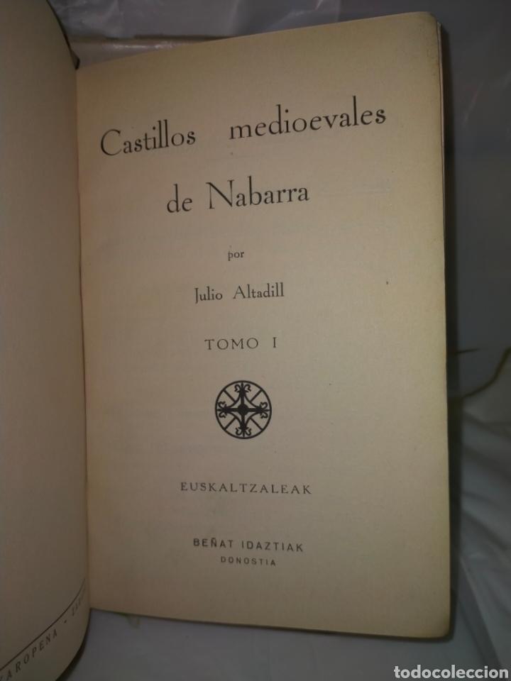 Libros antiguos: JULIO ALTADILL. CASTILLOS MEDIOEVALES DE NAVARRA(1934/1936). 3 TOMOS .EDITORIAL ITXAROPENA - Foto 2 - 262978230