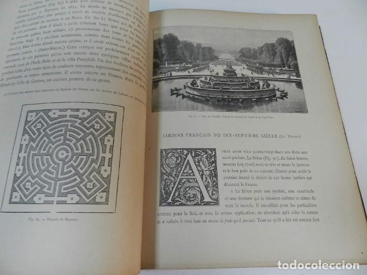 Libros antiguos: 1900 LARTS DES JARDINS - PARCS PROMENADES ETUDE HISTORIQUE - ALPHAND A & LE BARON ERNOUF EN FRANCÉS - Foto 10 - 264174204