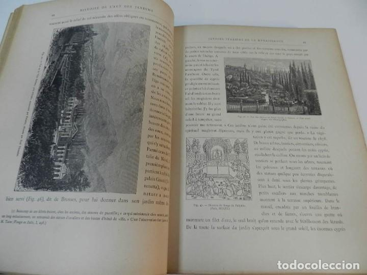 Libros antiguos: 1900 LARTS DES JARDINS - PARCS PROMENADES ETUDE HISTORIQUE - ALPHAND A & LE BARON ERNOUF EN FRANCÉS - Foto 12 - 264174204