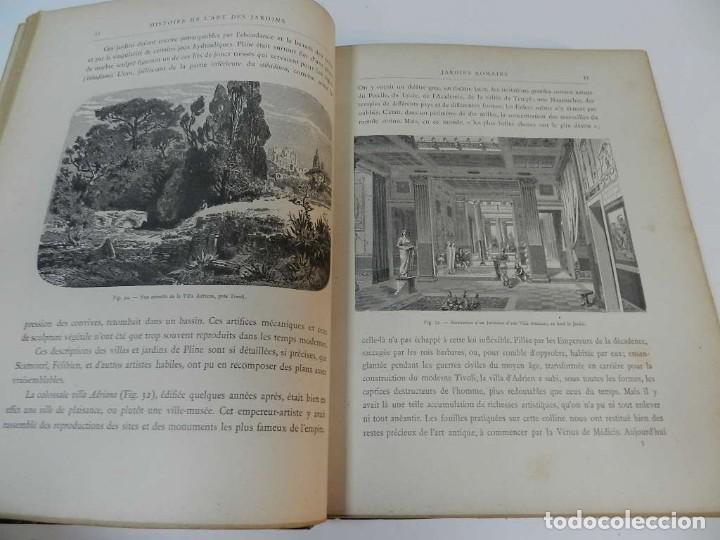 Libros antiguos: 1900 LARTS DES JARDINS - PARCS PROMENADES ETUDE HISTORIQUE - ALPHAND A & LE BARON ERNOUF EN FRANCÉS - Foto 13 - 264174204