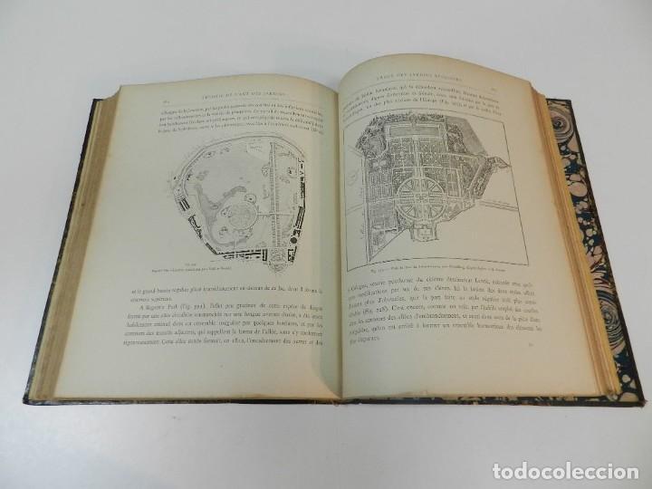 Libros antiguos: 1900 LARTS DES JARDINS - PARCS PROMENADES ETUDE HISTORIQUE - ALPHAND A & LE BARON ERNOUF EN FRANCÉS - Foto 14 - 264174204