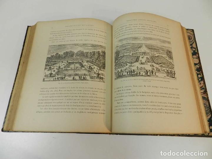 Libros antiguos: 1900 LARTS DES JARDINS - PARCS PROMENADES ETUDE HISTORIQUE - ALPHAND A & LE BARON ERNOUF EN FRANCÉS - Foto 15 - 264174204