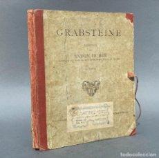 Libros antiguos: SEPULTURA - TUMBA - CEMENTERIO - GRABSTEINE - GOTICO - CATALOGO DE SEPULTURAS - ARQUITECTURA. Lote 267073424