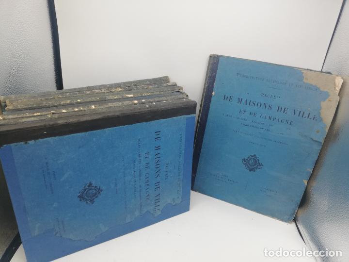 Libros antiguos: L´ARCHITECTURE ALLEMANDE AU XIX SIECLE. RECUELL DE MASIONS DE VILLE ET DE CAMPAGNE. 9 TOMOS.VER.LEER - Foto 3 - 267903714
