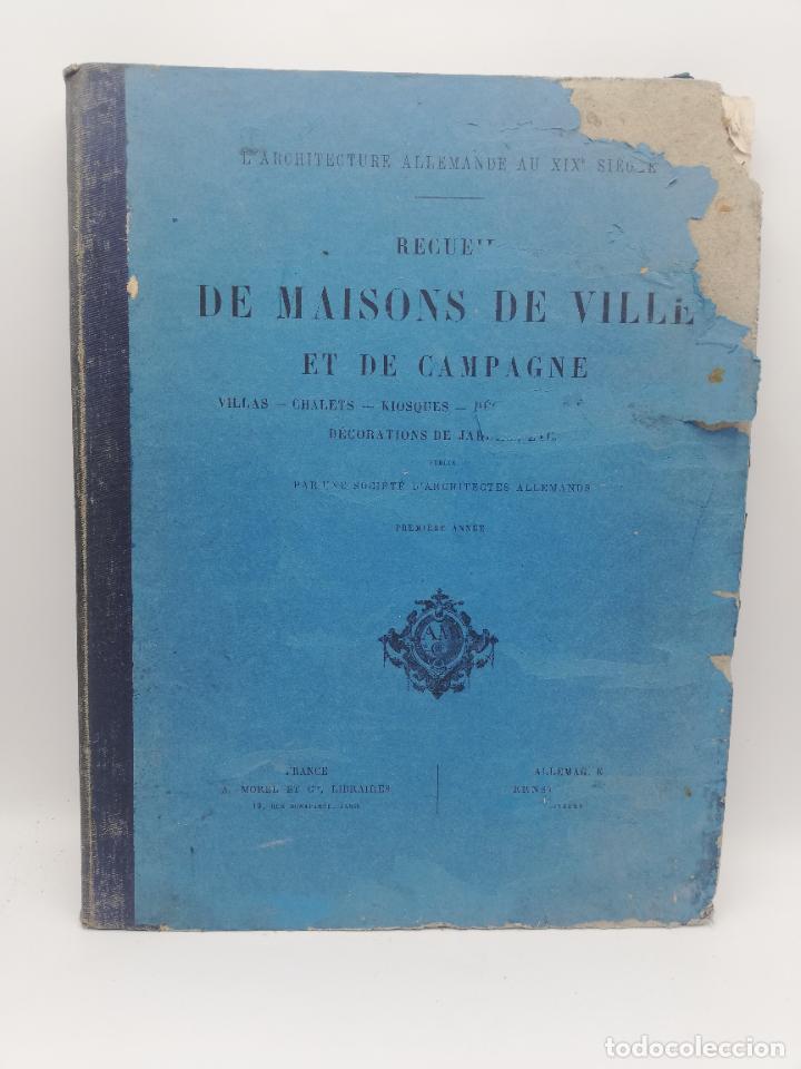 Libros antiguos: L´ARCHITECTURE ALLEMANDE AU XIX SIECLE. RECUELL DE MASIONS DE VILLE ET DE CAMPAGNE. 9 TOMOS.VER.LEER - Foto 4 - 267903714